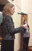 Earth Ministry member Abby Brockway testifies at the Seattle EPA listening session on Nov. 5, 2013