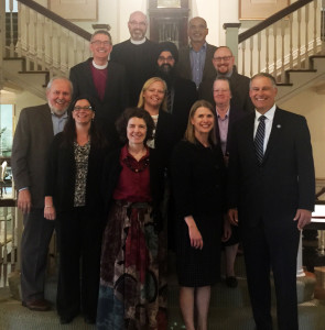 Interfaith leaders with Gov. Inslee