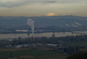 Mt. St. Helens over Longview, WA
