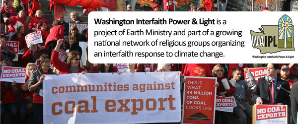 WA Interfaith Power and Light at coal rally
