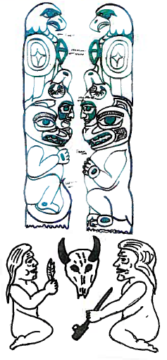 Sketch of 2016 Totem Pole by Jewell James